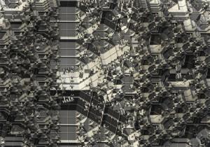 Octahedron_Corner [on:] 2014 70 x 100 cm